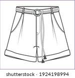 short pants  fashion flat...   Shutterstock .eps vector #1924198994
