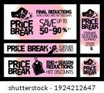 price break banners vector set...   Shutterstock .eps vector #1924212647