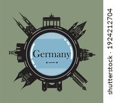 germany cityscape with... | Shutterstock .eps vector #1924212704
