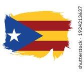 flag of catalonia   flag vector ... | Shutterstock .eps vector #1924213637