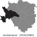 black location map of the... | Shutterstock .eps vector #1924219841