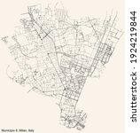 black simple detailed street... | Shutterstock .eps vector #1924219844
