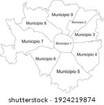 simple white vector map with... | Shutterstock .eps vector #1924219874
