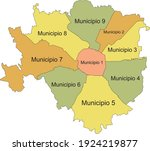 simple pastel vector map with... | Shutterstock .eps vector #1924219877