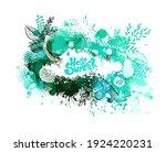 frame of blots. grunge design... | Shutterstock .eps vector #1924220231