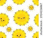 seamless pattern with sunflower ... | Shutterstock .eps vector #1924226867