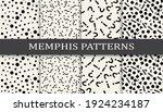 set of memphis style seamless... | Shutterstock .eps vector #1924234187