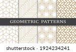 set of geometric seamless... | Shutterstock .eps vector #1924234241