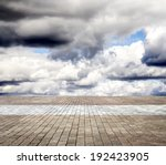 paving stone floor with cloud... | Shutterstock . vector #192423905