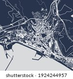 vector map of the city of... | Shutterstock .eps vector #1924244957