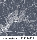 vector map of the city of... | Shutterstock .eps vector #1924246991