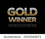 vector elite emblem gold winner.... | Shutterstock .eps vector #1924263071