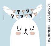 happy easter. simple easter... | Shutterstock .eps vector #1924264304