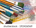 paints and brushes  | Shutterstock . vector #192426569