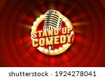stand up comedy signboard label ... | Shutterstock .eps vector #1924278041