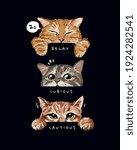 cute cats mood illustration on...   Shutterstock .eps vector #1924282541