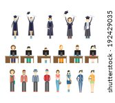 large set of icons of young... | Shutterstock .eps vector #192429035