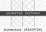 set of geometric seamless... | Shutterstock .eps vector #1924297241
