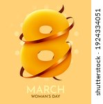 happy women's day greeting card.... | Shutterstock .eps vector #1924334051