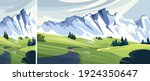 road to snowy mountain. set of... | Shutterstock .eps vector #1924350647