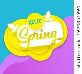 hello spring cut paper style... | Shutterstock .eps vector #1924351994