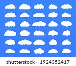 set of vector cartoon clouds on ... | Shutterstock .eps vector #1924352417