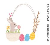 easter colorful cartoon style... | Shutterstock .eps vector #1924354781