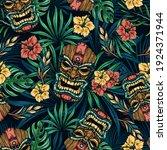 hawaiian tropical colorful...   Shutterstock .eps vector #1924371944