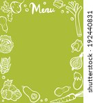 healthy vegetable menu template ... | Shutterstock . vector #192440831
