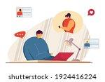 girl and guy having romantic... | Shutterstock .eps vector #1924416224