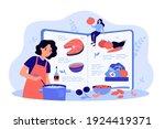 healthy meals recipe book... | Shutterstock .eps vector #1924419371