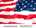 close up of american flag | Shutterstock . vector #192443117