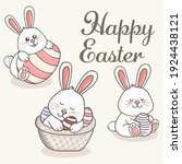 greeting card with with white... | Shutterstock .eps vector #1924438121