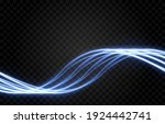 glowing electric magical wavy...   Shutterstock .eps vector #1924442741