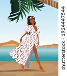 digital illustration of a girl... | Shutterstock .eps vector #1924447544