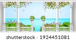 spring mediterranean balustrade ... | Shutterstock .eps vector #1924451081