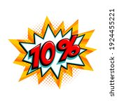 10 off sale. comic yellow sale...   Shutterstock .eps vector #1924455221
