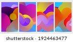 3d fluid wavy shape. bright... | Shutterstock .eps vector #1924463477