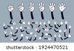 cartoon hands. comic arms with... | Shutterstock .eps vector #1924470521