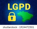 lgpd   brazilian data...   Shutterstock .eps vector #1924472501