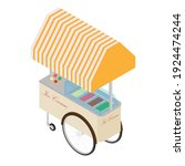 ice cream cart vector isolated... | Shutterstock .eps vector #1924474244