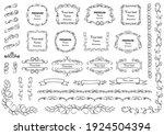 calligraphic design elements .... | Shutterstock .eps vector #1924504394