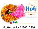 illustration of happy holi... | Shutterstock .eps vector #1924510514