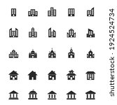 building icon large set.... | Shutterstock .eps vector #1924524734
