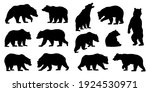 various bear silhouettes on the ... | Shutterstock .eps vector #1924530971
