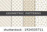 set of geometric seamless... | Shutterstock .eps vector #1924535711