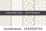 set of geometric seamless... | Shutterstock .eps vector #1924535714