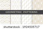 set of geometric seamless... | Shutterstock .eps vector #1924535717