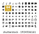 music vector flat glyph icon...