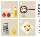 process of cooking eggs  recipe ... | Shutterstock .eps vector #192455039